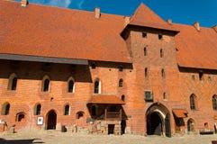 Gotisk Teutonic slott i Malbork, Polen Royaltyfri Bild