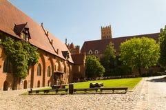 Gotisk Teutonic slott i Malbork, Polen Royaltyfria Foton