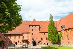 Gotisk Toutenic slott i Malbork, Polen Royaltyfri Foto