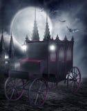 gotisk vagn vektor illustrationer