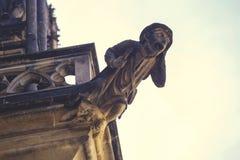 Gotisk vattenkastare på St Vitus Cathedra Royaltyfri Foto