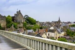 Gotiska byggnader i Le Mans, Frankrike Fotografering för Bildbyråer