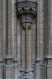 Gotiska detaljer av domkyrkakyrkan i Antwerp Royaltyfri Fotografi