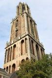 Gotiska Dom Tower av Utrecht, Nederländerna Arkivbild