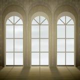gotiska fönster royaltyfri illustrationer