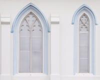 Gotiska fönster Royaltyfri Bild