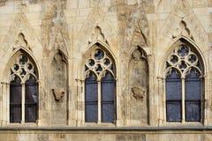 gotiska fönster Royaltyfria Bilder