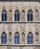 gotiska fönster Arkivfoto