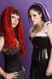 gotiska flickor royaltyfri fotografi
