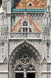 Gotiska garneringar på Matthias Church Arkivfoton