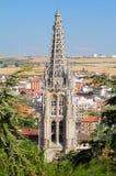 Gotiska höjdpunkter av den Burgos domkyrkan. Spanien Arkivbild