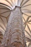 Gotiska kolonn- och takbågar arkivfoto