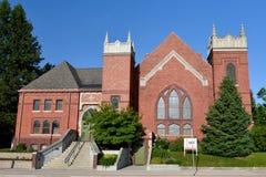 Gotiska kyrkliga Ame, Iowa Arkivfoto