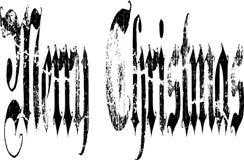 Gotiska ord för glad jul Arkivbild