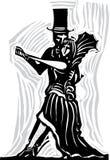 Gotiska par som dansar A Royaltyfria Foton