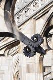 Gotiska stilstatyer av Doumo milan Royaltyfria Bilder