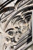 Gotiska stilstatyer av Doumo milan Arkivbild