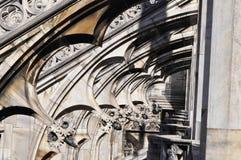 Gotiska stilstatyer av Doumo milan Fotografering för Bildbyråer