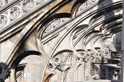 Gotiska stilstatyer av Doumo milan Royaltyfria Foton