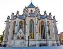 Gotiska Sts Peter kyrkliga Leuven Arkivfoto