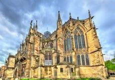 Gotiskt basilikahelgon Urbain av Troyes i Frankrike royaltyfria foton