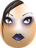 gotiskt easter ägg arkivbild