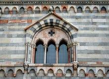 gotiskt italienskt italy för como fönster Royaltyfri Foto