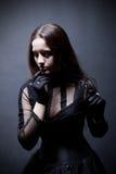 gotiskt nätt för flicka royaltyfri fotografi