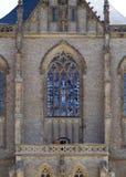 Gotiskt nedfläckadt fönster Royaltyfri Foto