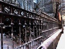 Gotiskt staket Arkivbilder