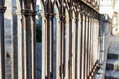 Gotiskt staket Arkivfoto