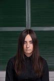 Gotiskt utforma flickan Arkivbilder