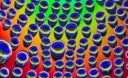 Gotitas del arco iris Imagen de archivo