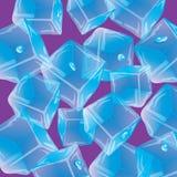 Gotitas del hielo Fondo inconsútil del vector Fotografía de archivo libre de regalías