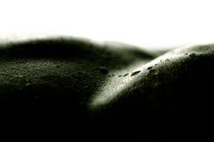 Gotitas en piel Foto de archivo libre de regalías