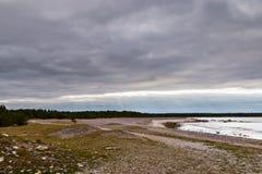 Gotland, paisagem litoral da Suécia fotografia de stock