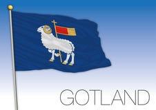 Gotland regional flag, Sweden, vector illustration royalty free stock image