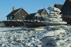 Gotland - rocks Stock Photography