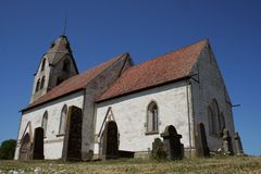 Gotlhic church and the cementery Stock Photography