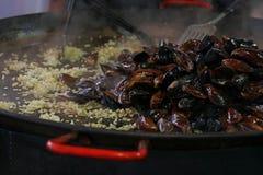 Gotować dekatyzuję piec mussels zamknięty up Obraz Stock