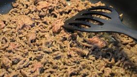 Gotować minced mięso Zdjęcia Stock