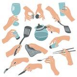 Gotować ręka kontury royalty ilustracja