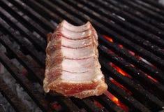 Gotować Schweinehalssteaks paprykę Zdjęcia Royalty Free