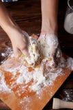Gotować w domu concpet jedzenie healhty Drewniana mąka Zdjęcie Royalty Free