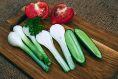 Gotować z świeżymi warzywami Obraz Royalty Free