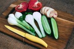 Gotować z świeżymi warzywami Zdjęcie Stock