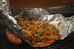 Gotować na grillu Fotografia Royalty Free