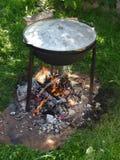 Gotować w garnku w naturze obraz stock
