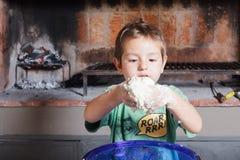 Gotować z childs Obrazy Royalty Free
