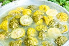 Gotowana bergamota Zdjęcie Stock